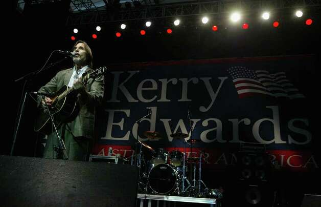 After John Kerry won the Democratic nomination and took on Edwards as his running mate, former Nader supporter Jackson Browne backed joining a long list of liberal musicians trying to help them beat Bush. Photo: Justin Sullivan, Getty Images / 2004 Getty Images