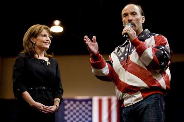 Palin watches country singer Lee Greenwood perform at a rally on October 21, 2008 in Reno, Nevada. Photo: Max Whittaker, Getty Images / 2008 Getty Images