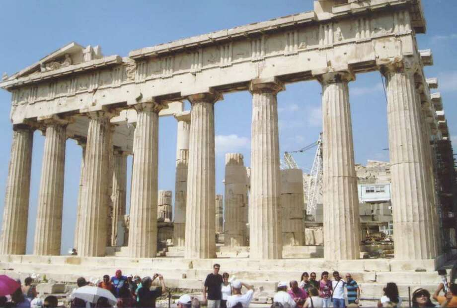 """During his recent trip to Greece, Greenwich resident Bob Mann visited the Parthenon. """"It's enormity,"""" Mann says, """"is softened by the near perfection of its proportions."""" Photo: Contributed Photo"""