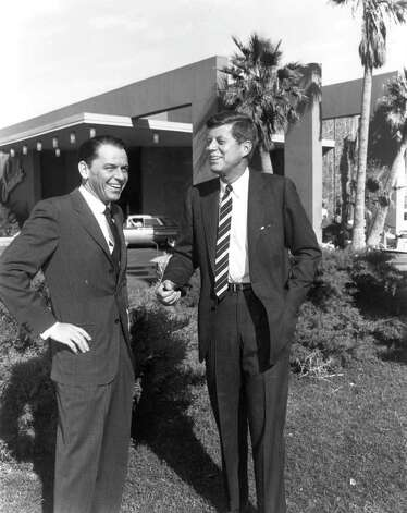 Frank Sinatra (left) famously campaigned for John F. Kennedy (right) in 1960. Photo: AFP, AFP/Getty Images / AFP