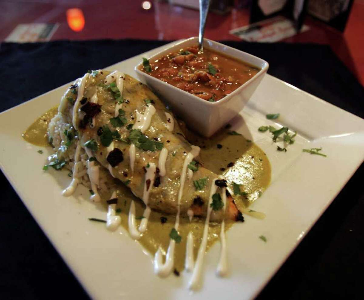 Pechuga de Pollo Con Crema de Chile Poblano is rich with butter but still maintains the flavors of the roasted poblanos.