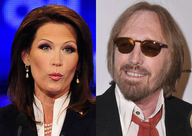 "Singer Tom Petty recently sent Republican presidential candidate Michele Bachmann a cease-and-desist letter telling the Minnesota Republican to stop using his song ""American Girl."" It's the latest in a long line of hit-and-miss relationships between presidential candidates, musicians and their songs. Photo: EMMANUEL DUNAND/AFP/Getty Images (left); Alberto E. Rodriguez/Getty Images (right)"