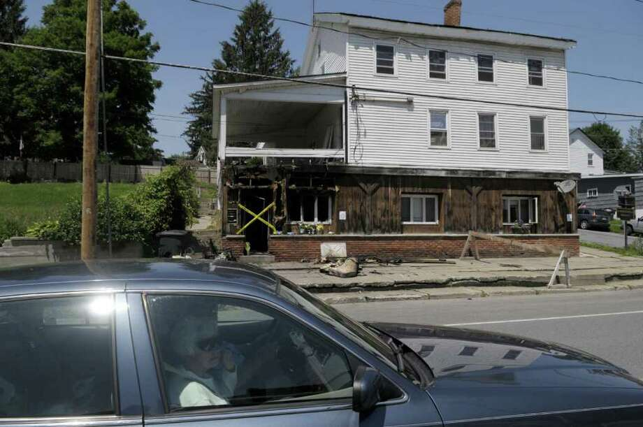 A view of the structure at 9 Broad St. in Schuylerville on Tuesday morning, July 5, 2011.  A fire at this location took the life of Christopher Wiley on Monday morning.   (Paul Buckowski / Times Union) Photo: Paul Buckowski