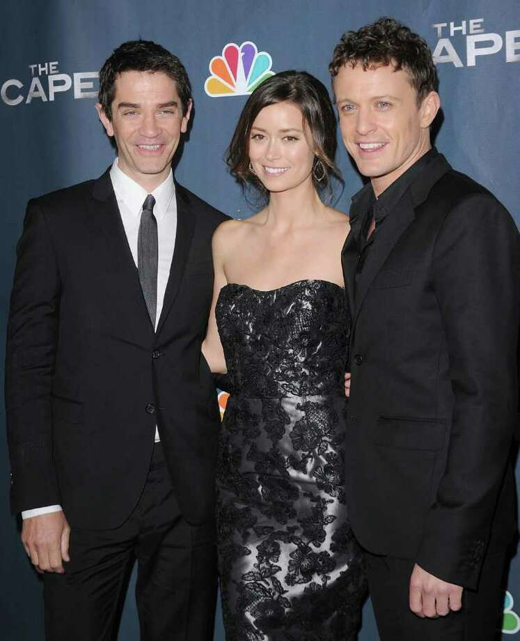 "HOLLYWOOD, CA - JANUARY 04:  Actors David Frain, Summer Glau and David Lyons arrive at the premiere of NBC's ""The Cape"" on January 4, 2011 in Hollywood, California.  (Photo by Jason Merritt/Getty Images) *** Local Caption *** David Frain;Summer Glau;David Lyons Photo: Jason Merritt, Getty Images / 2011 Getty Images"
