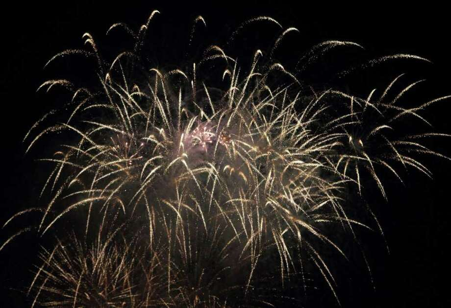 Fireworks went off at Darien High School for the Independence Day fireworks show July 3. Photo: Contributed Photo