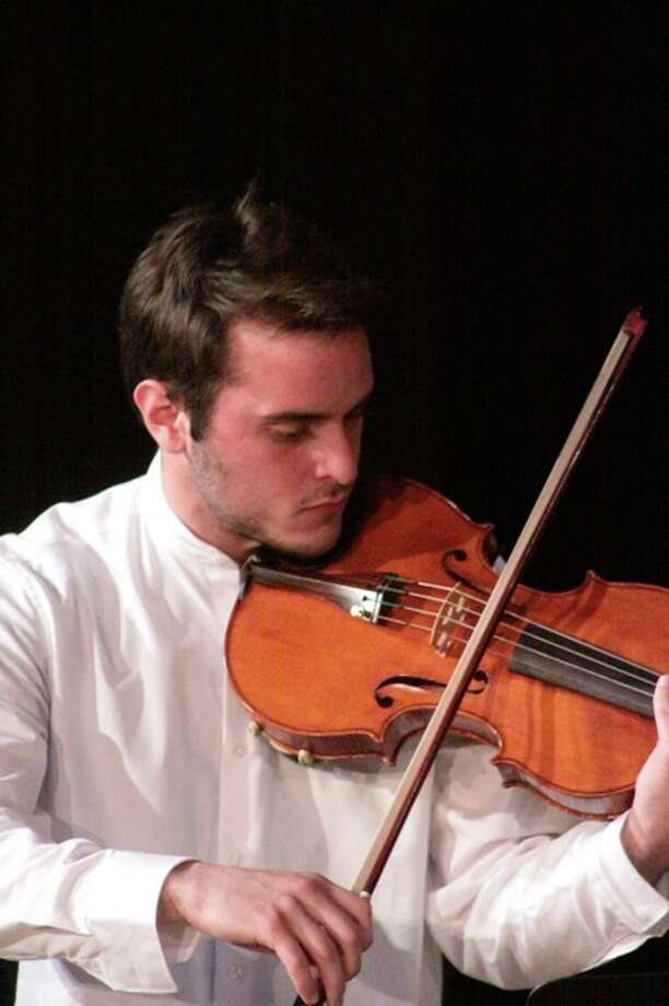 A student from the 2011 Viola Seminar at the final concert in Hubbard Hall, Cambridge, NY, June 12th. (Lila  Brown)