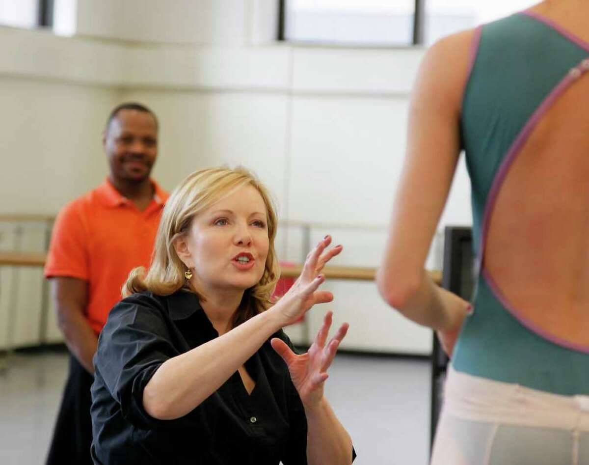 """Susan Stroman works with a New York City Ballet dancer in 2011 for a Duke Ellington tribute. Winner of multiple Tony Awards for directing and choreography, Stroman will direct """"The Right Girl,"""" a new musical addressing sexual abuse in Hollywood, with music by 12-time Oscar nominee and 15-time Grammy nominee Diane Warren. It was scheduled to rehearse and run for more than a month at Proctors in Schenectady in October and November 2021 but was postponed, to a date yet to be determined, because of the pandemic surge."""