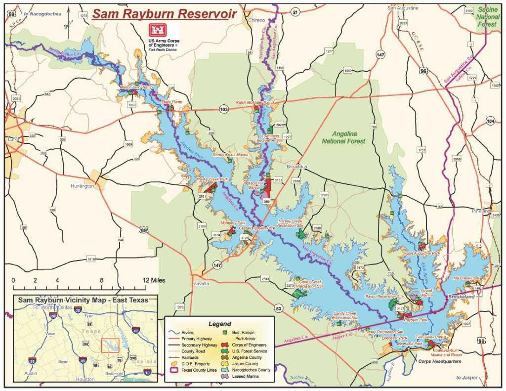 Lake Sam Rayburn shrinking, but a long ways from gone
