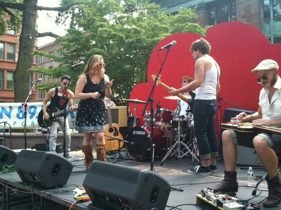 The Bridgeport Arts Festival, which celebrates local artists every year on McLevy Green, will feature three musical acts this year: School of Rock, Bridgeport Theater Company and Girls on Bikes. Find out more.  Photo: Contributed Photo