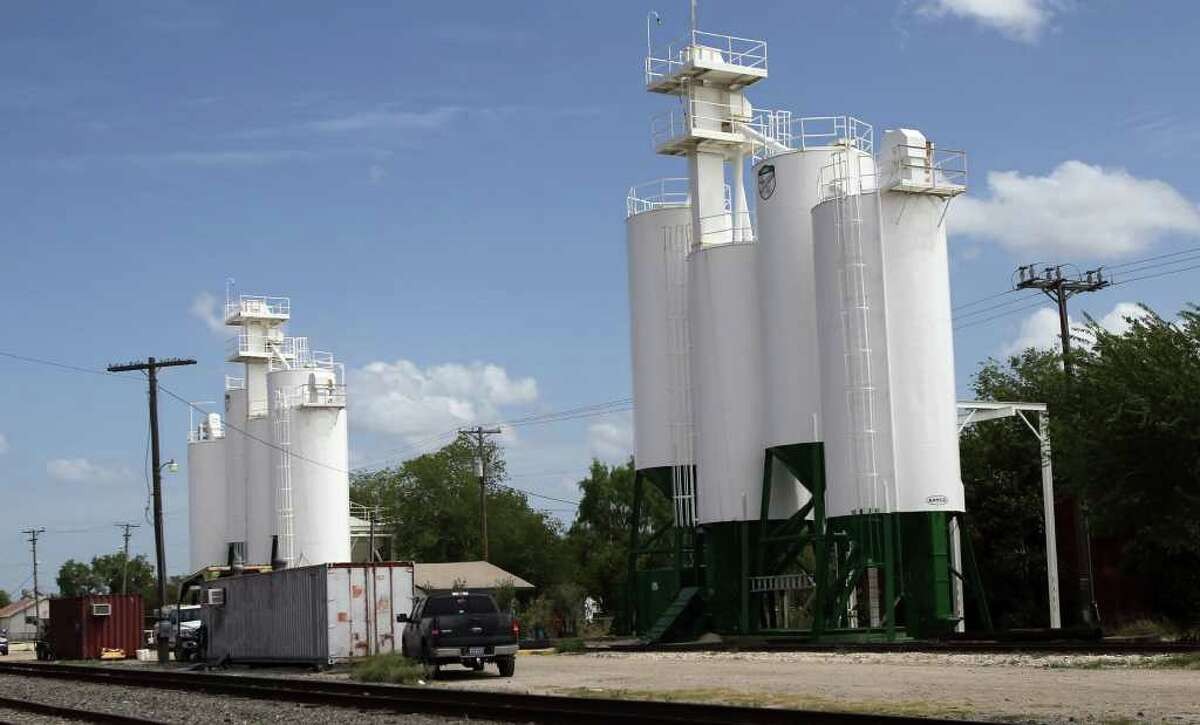 The Badger Mining Company in George West, Texas just south of the Valero Three Rivers refinery provides much of the sand used in the hydralic fracturing process that is used to extract oil from the Eagle Ford shale formation.