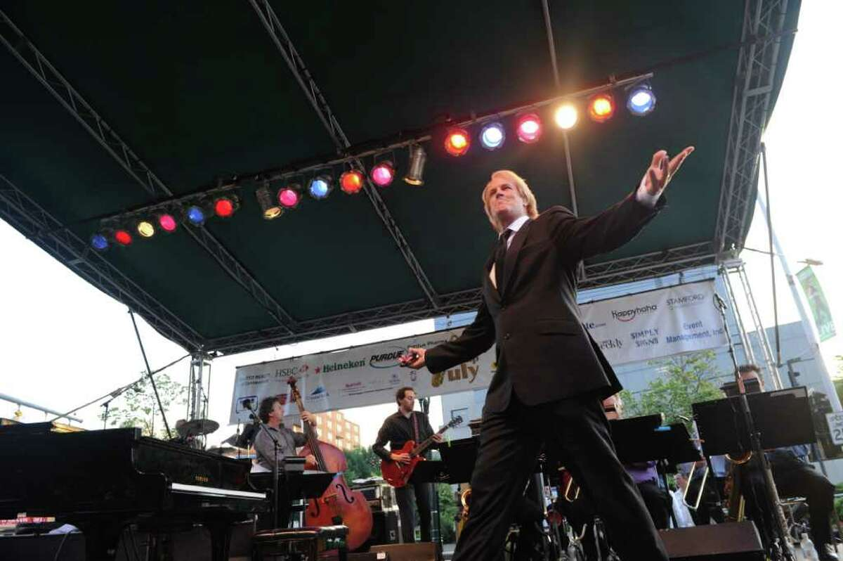 John Tesh takes the stage as he and his big band open the Jazz in July series at Columbus Park July 6, 2011.