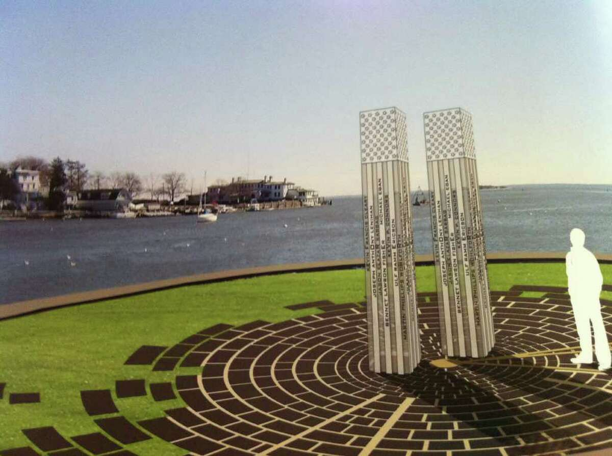 A rendering of the proposed Sept. 11 memorial organizers hope to erect in Grass Island.