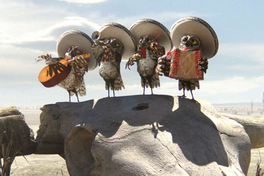 "The Mariachi Owls in ""Rango."" Photo: Industrial Light & Magic / ©2011 Paramount Pictures. All Rights Reserved. Photo Credit: Industrial Light & Magic"