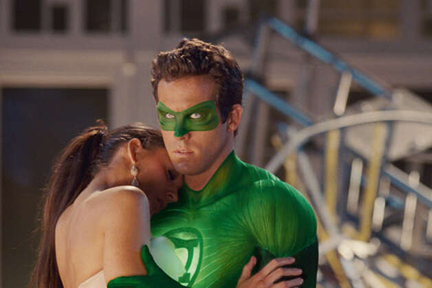 "Blake Lively as Carol Ferris and Ryan Reynolds as Green Lantern in ""Green Lanter."" Photo: Warner Bros. Pictures. TM & © DC / © 2011 Warner Bros. Entertainment Inc."