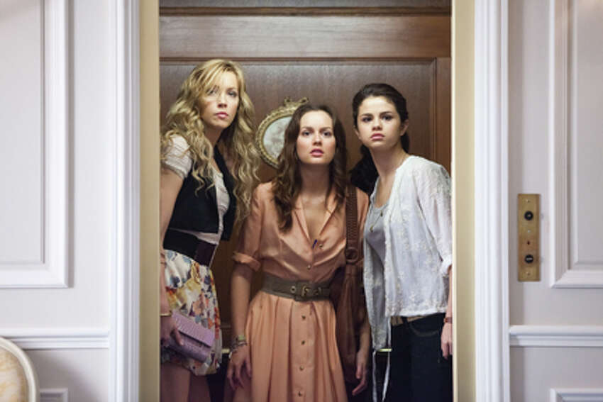 (L-R) Katie Cassidy as Emma, Leighton Meester as Meg and Selena Gomez as Grace in