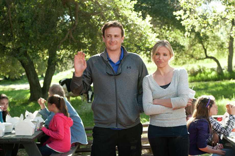 """Jason Segel as Russell Gettis and Cameron Diaz as Elizabeth Halsey in """"Bad Teacher."""" Photo: Photo Credit: Gemma LaMana, Gemma LaMana / ©2011 Columbia TriStar Marketing Group, Inc.  All Rights Reserved. **ALL IMAGES ARE PROPERTY OF SONY PICTURES ENTERTAINMENT INC. FOR PROMOTIONAL USE ONLY.  SALE, DUPLICATION OR TRANSFER OF THIS MATERIAL IS STRICTLY PROHIBITED."""