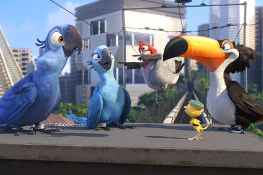 "(L-R) Blu, Jewel, Pedro, Rafael and Nico in ""Rio."" Photo: Blue Sky Studios, Courtesy Of Blue Sky Studios / TM and © 2011 Twentieth Century Fox Film Corporation.  All rights reserved.  Not for sale or duplication."