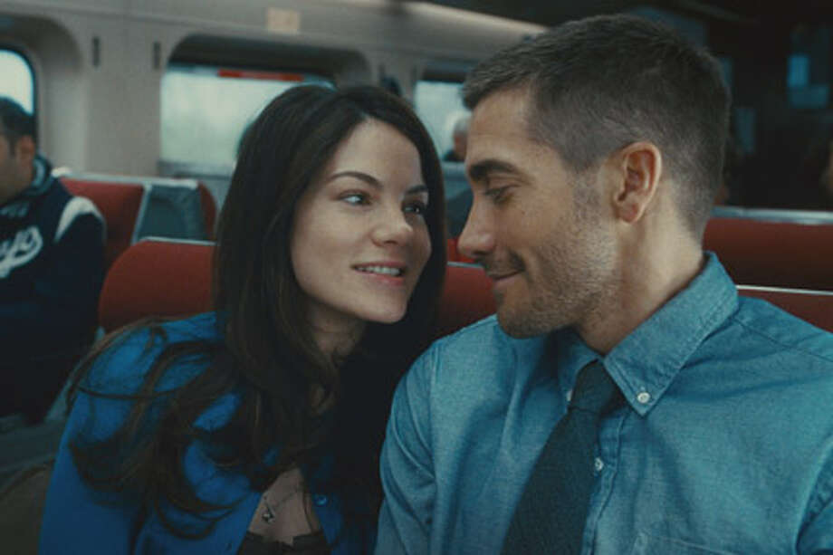 "Michelle Monaghan as Christina and Jake Gyllenhaal as Colter Stevens in ""Source Code."""