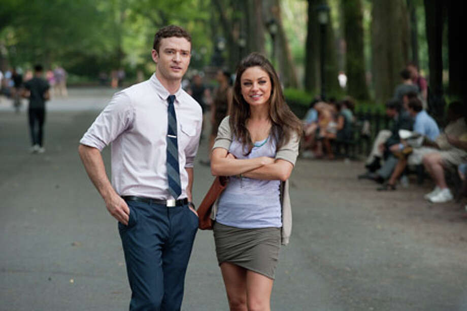 "Justin Timberlake as Dylan and Mila Kunis as Jamie in ""Friends with Benefits."" Photo: David Giesbrecht / ©2011 CTMG, Inc.  All Rights Reserved.  **ALL IMAGES ARE PROPERTY OF SONY PICTURES ENTERTAINMENT INC. FOR PROMOTIONAL USE ONLY. SALE, DUPLICATION OR TRANSFER OF THIS MATERIAL IS STRICKLY PROHIBITED."