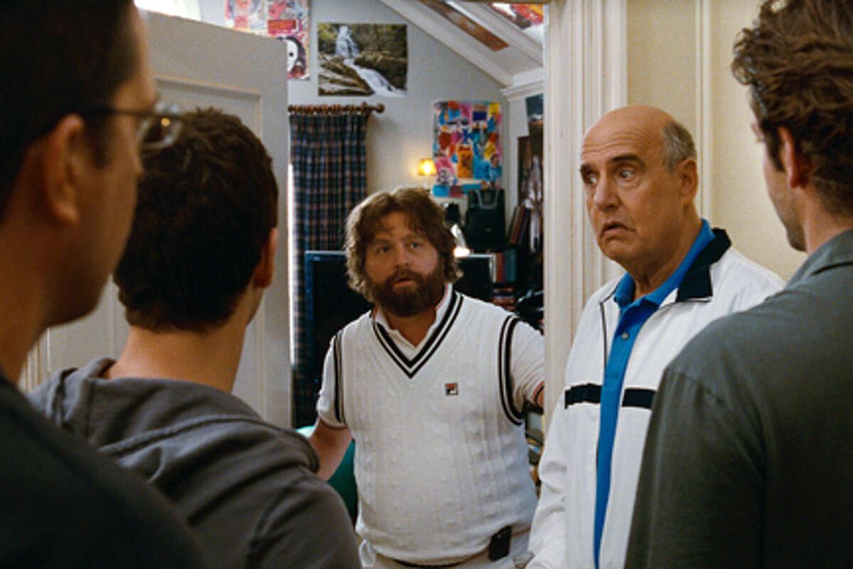 "(L-R) Ed Helms as Stu, Justin Bartha as Doug, Zach Galifianakis as Alan, Jeffrey Tambor as Sid Garner and Bradley Cooper as Phil in ""The Hangover Part II."""