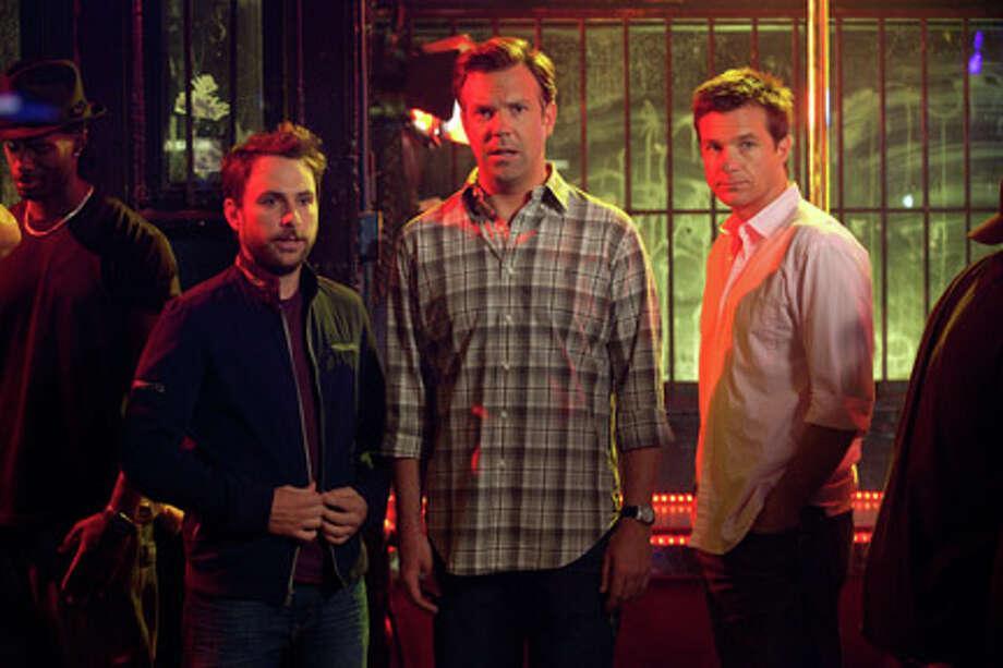 "(L-R) Charlie Day as Dale Arbus, Jason Sudeikis as Kurt Buckman and Jason Bateman as Nick Hendricks in ""Horrible Bosses."" Photo: John P. Johnson / © 2011 New Line Productions, Inc."