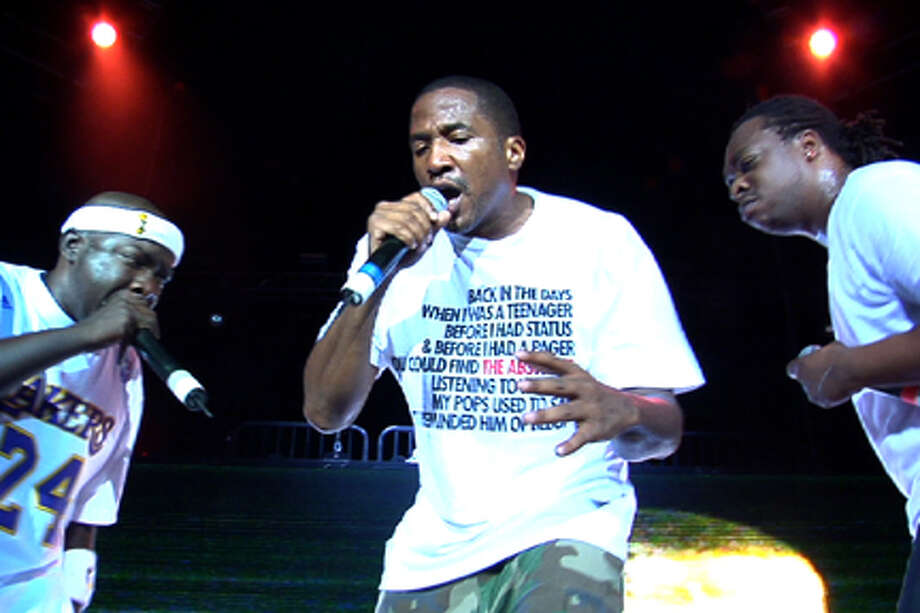 """(L-R) Phife Dawg, Q-Tip and Jarobi White in """"Beats, Rhymes & Life: The Travels of a Tribe Called Quest."""""""