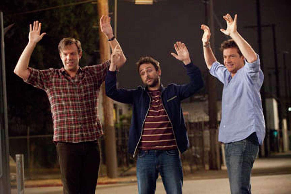 (L-R) Jason Sudeikis as Kurt Buckman, Charlie Day as Dale Arbus and Jason Bateman as Nick Hendricks in