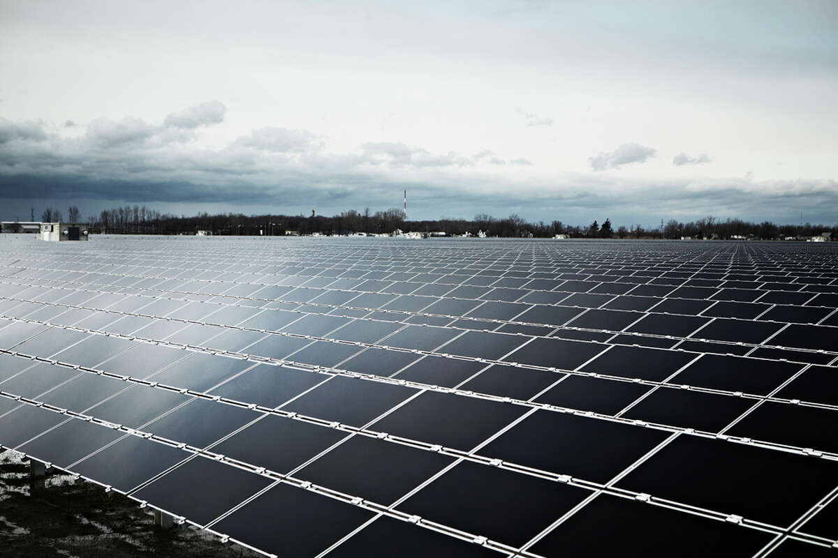 This is a view of the Sarnia Solar Project in Ontario. At 97 megawatts, it's currently the world's largest solar farm. CPS Energy has revised plans for its next project to make it 400 megawatts instead of the original 50-megawatt facility envisioned.