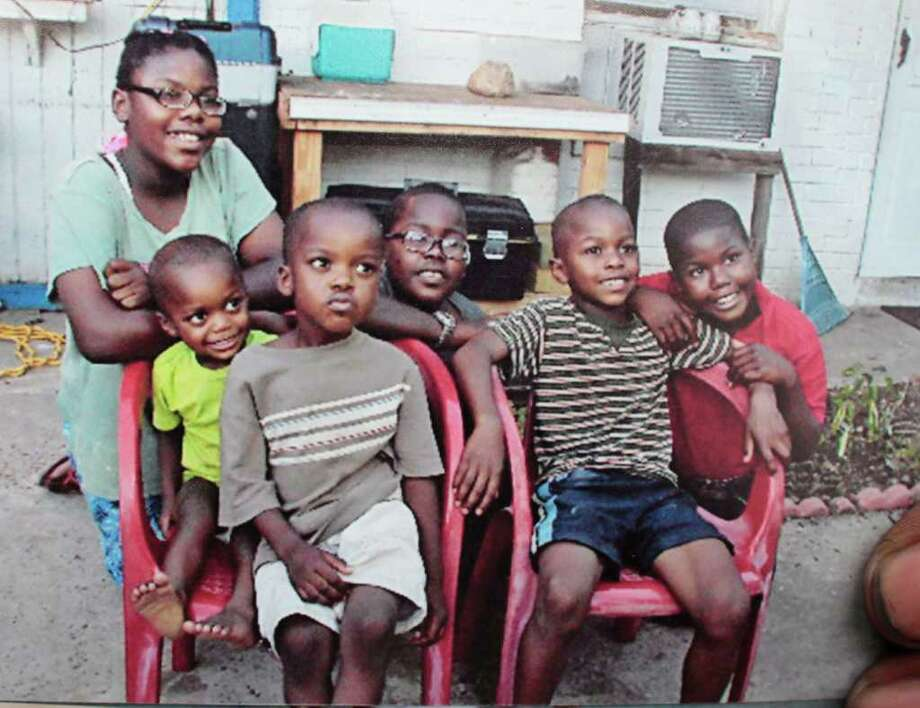 Meet the Leonards' children: 12-year-old Sabrina, 2-year-old Jamil, 4-year-old Abdullah, 10-year-old Prince Leonard II, 7-year-old Saleem and 8-year-old Raheem.  For four years, the Leonards had been using a storage unit at Boat & RV stoarge in Houston as home. Three weeks ago, Child Protective Services took their children because the storage facility was unfit for children. Billy Smith II/ Houston Chronicle / 2011 Chronicle