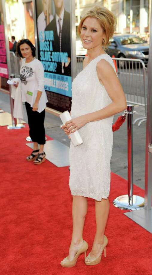 "Julie Bowen, a cast member in ""Horrible Bosses,"" poses at the premiere of the film, Thursday, June 30, 2011, in Los Angeles. The film is released on July 8. Photo: AP"