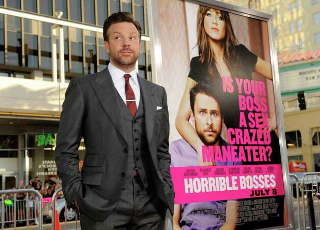 "Jason Sudeikis, a cast member in ""Horrible Bosses,"" poses at the premiere of the film, Thursday, June 30, 2011, in Los Angeles. The film is released on July 8. Photo: AP"