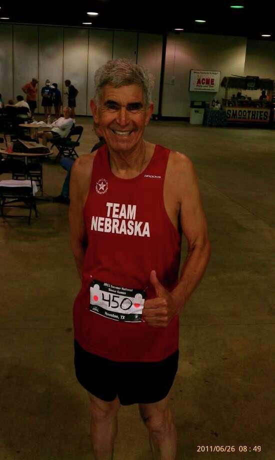 Senior athlete Jose Badillo, from Santa Rosa, Texas. In the 2011 Senior Games, in Houston, Badillo placed first in the 5K, third in the 10K and third in the 1500 meters. Photo: Jesus Acevedo