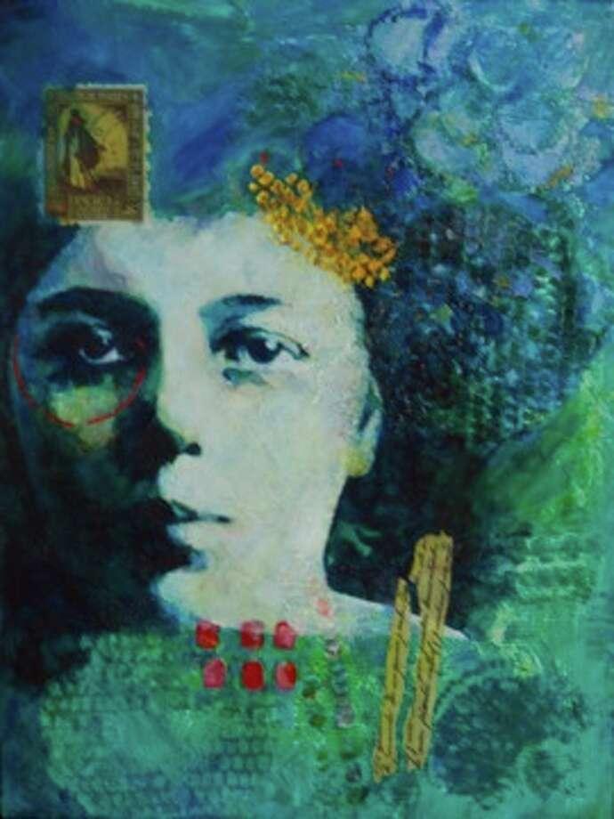 """""""Visa Para Un Sueno/Visa for a Dream"""" by Rosa Vera is part of the Gaga exhibit at Gallery Nord"""