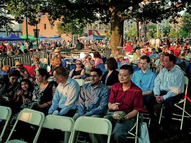 Stamford's Jazz Up July on July 7 was headlined by John Tesh. Photo: Mike Macklem / Hearst Connecticut Media Group