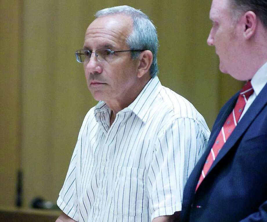 Former city accountant James Santorella is arraigned  in State Superior Court  in Stamford, Conn. on Wednesday June 16, 2010.  Santorella was charged with two counts of first-degree larceny for allegedly stealing $19,000 in city funds. Photo: File Photo / Stamford Advocate File Photo