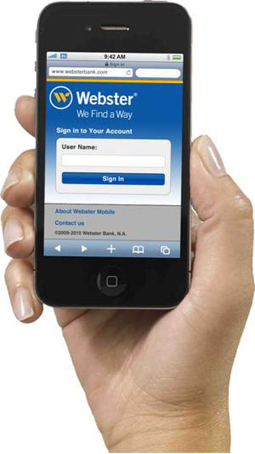 Webster Bank's mobile home page. Photo: Contributed Photo / Greenwich Time Contributed