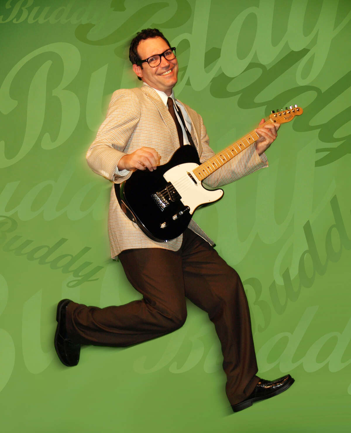 """Chris Huber plays Buddy Holly in """"Buddy: The Buddy Holly Story,"""" a musical being presented by Point Theatre in Ingram. COURTESY HILL COUNTRY ARTS FOUNDATION"""