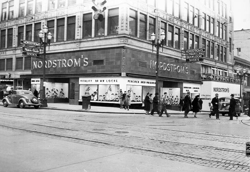 The Seattle Nordstrom in the late 1930s.