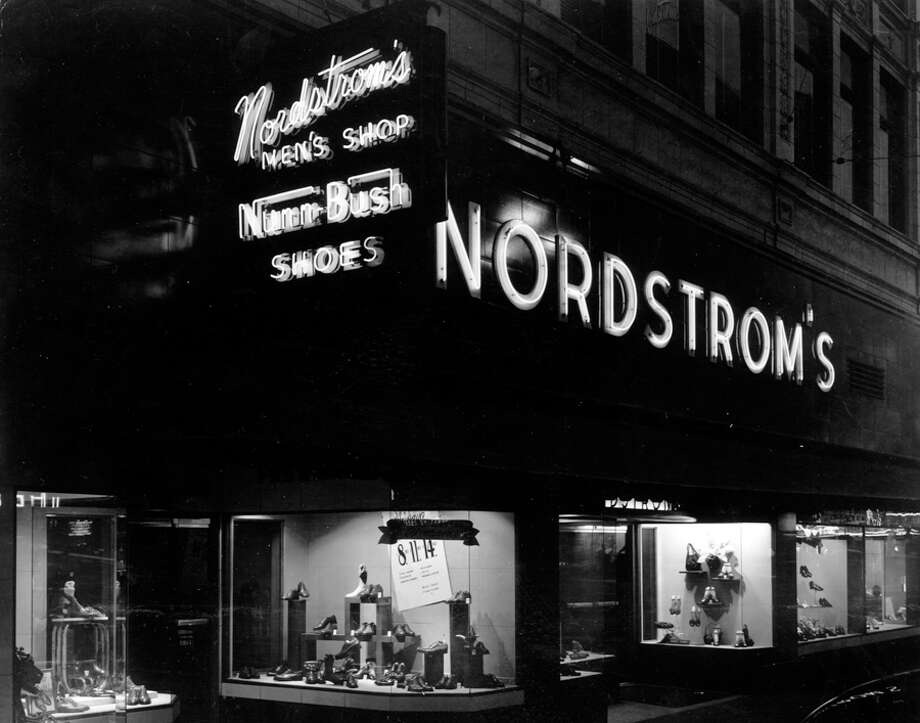 Nordstrom at Fifth Avenue and Pike Street, 1950. Photo: Seattlepi.com File
