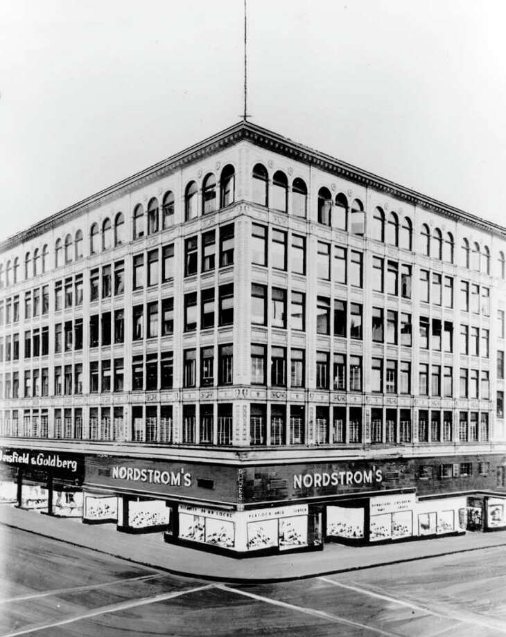Nordstrom at Fifth Avenue and Pike Street, 1937. Photo: Seattlepi.com File
