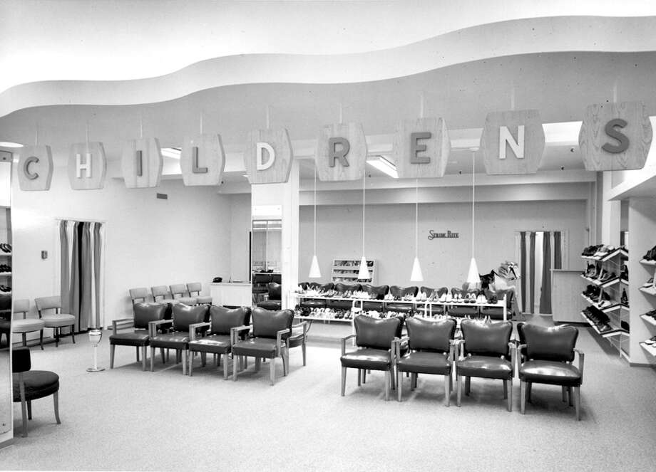 The childrens shoe section at a Nordstrom in the 1950s. The exact date is not listed. Photo: Seattlepi.com File