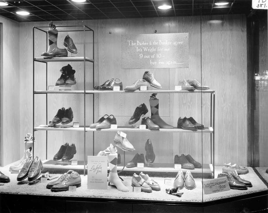 Nordstrom's Fifth Avenue and Pike Street store, 1954. Photo: Seattlepi.com File