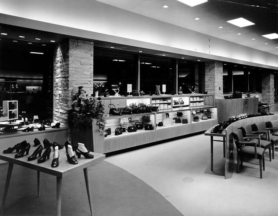 Nordstrom shoes at Fifth Avenue and Pike Street, 1957. Photo: Seattlepi.com File