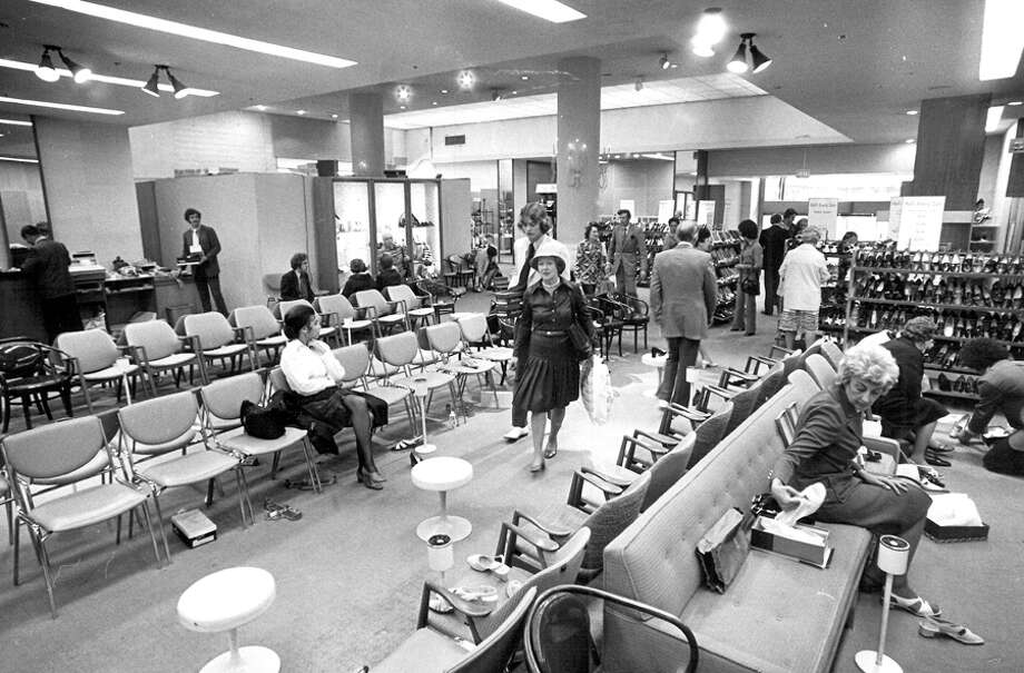 A scene from a Seattle Nordstrom store, May 28, 1976. Photo: Seattlepi.com File
