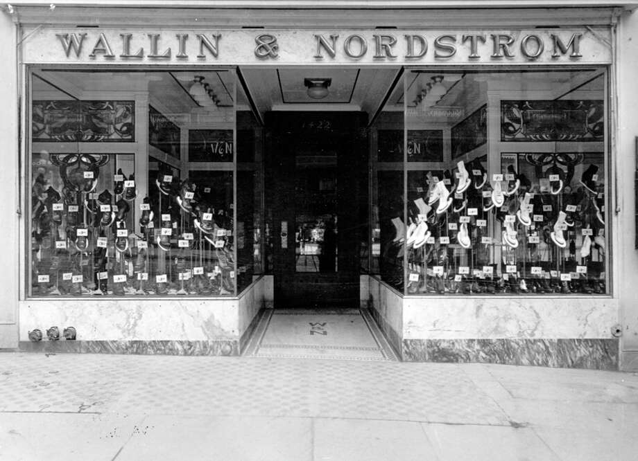 The Second Avenue Wallin & Nordstrom shoe store. A specific photo date isn't listed. Photo: Seattlepi.com File