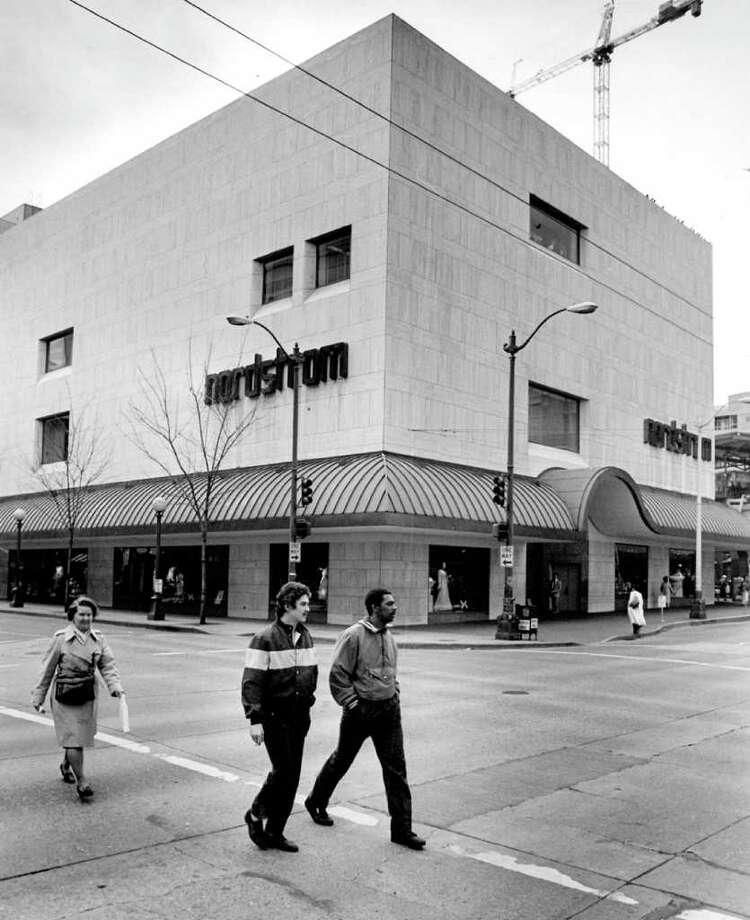 The downtown Seattle Nordstrom store in March 1990. The previous year, the store had $68.9 million in sales. Photo: Seattlepi.com File