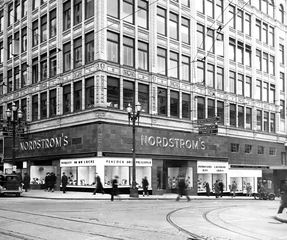 The March 1939 photo caption read: Here's an exterior view of Nordstrom downtown store on the corner of 5th Ave. and Pike St., as it looks following extensive alterations which have added more than 80 percent to floor space and greatly improved service facilities. Photo: Seattlepi.com File