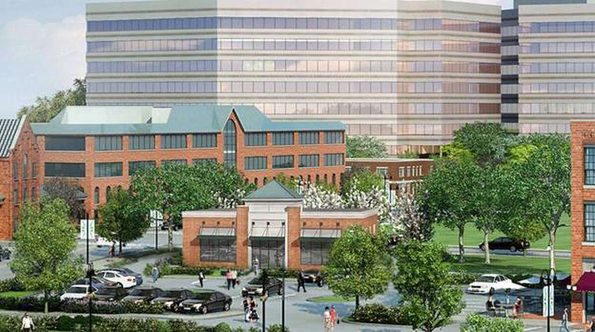 A rendering of the new First Niagara branch, opening this fall in the Harbor Point development in Stamford.