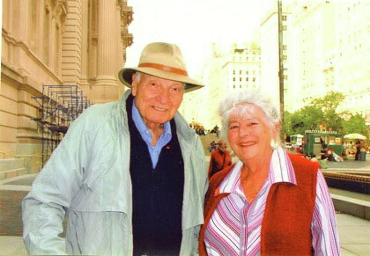 Longtime New Milford residents Harold and Lynne Mayer are shown here. The couple wrote, directed and produced