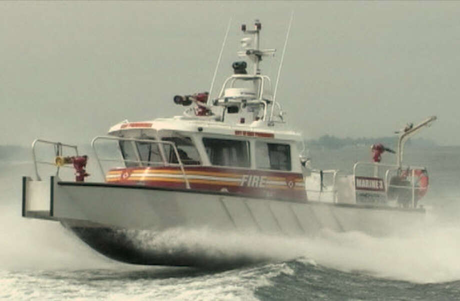 The town of Greenwich must soon decide whether to accept $600,000 in federal port security funds for a multi-purpose homeland security boat, the kind shown here, which is capable of fighting fires with sea water, detecting a full arsenal of hazardous materials and leading search-and-rescue missions. Photo: Contributed Photo
